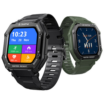 50 Days StandbyKospet Rock 1.69 Inch Large Screen Heart Rate Blood Pressure SpO2 Monitor 20 Sport Modes bluetooth 5.0 Three proof Outdoor Smart Watch
