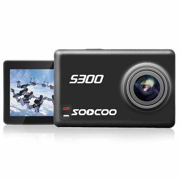 SOOCOO S300 Hi3559V100 IMX377 8G Sensor 2.35 Inch Toque LCD con WiFi Gryo Voice Control Micrófono externo GPS 12MP CMOS Sport Action Cámara