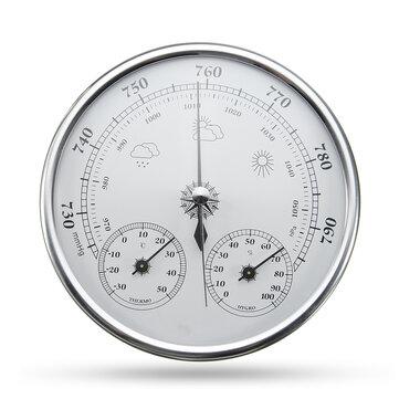 Wall Hanging Prakiraan Cuaca Thermometer Hygrometer Air Pressure Meter-30 ~ + 50 ℃ 0 ~ 100% Rh 960 ~ 1060hPa