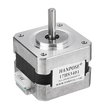 HANPOSE 17HS3401 34mm Nema 17 Stepper Motor 42 Motor 42BYGH 1.3A 28N.cm 4-lead for CNC 3D Printer