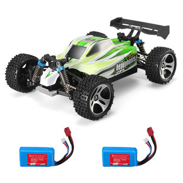 WLtoys A959-B 1/18 4WD Truck Off Road RC Car 70km/h Two Battery