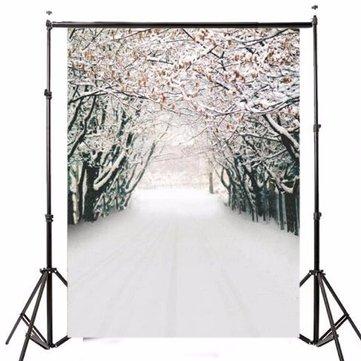 7x5FT Ice Snow Forest Theme Photography Vinyl Backdrop Studio Background 2.1m x 1.5m