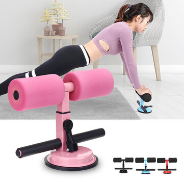 Sit-up Assistant Device 4 Levels Adjustable Self-Suction Sit-ups Bar Fitness Abdominal Muscle Training Exercise Tools