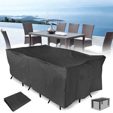 320x220x70CM al aire libre muebles de patio jardín Impermeable cubierta de polvo silla de mesa sol refugio