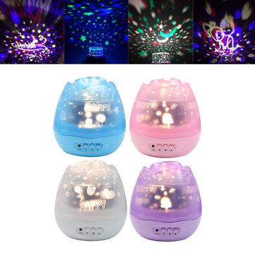 USB 360 Rotating Sky Moon Starry Star LED Projector Night Light Lamp 3 Model