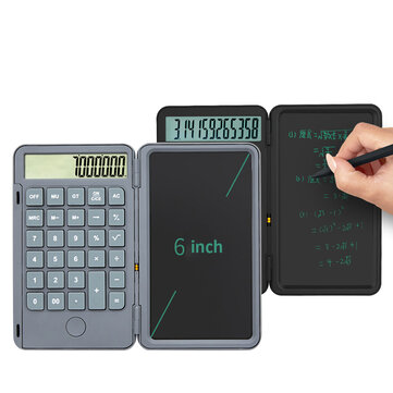 NEWYES 2 Pack Desktop Calculator with Portable LCD Handwriting Screen Writing Tablet 12-digit Display Repeated Writing Calculator Primary School Business Stationery Office Supplies
