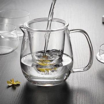 500 ml glas tekande infuser filter urte te kage leaf kedel vandkoger