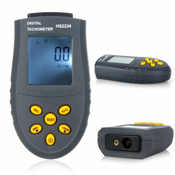 Buy HS2234 Digital Laser Tachometer 2 5 99999rpm LCD RPM Test Small Engine Motor Speed Gauge Non contact with 9 on Gipsybee.com