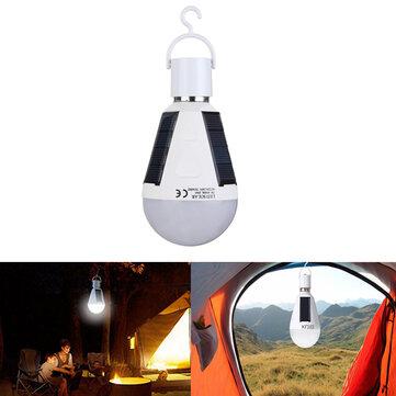 7W Solar Powered E27 LED Rechargeable Light Bulb Tent Camping Lampu Darurat dengan Hook
