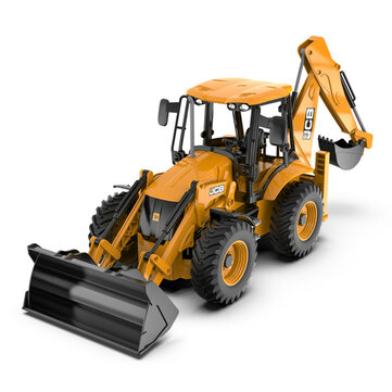Double E RTR E589 1/20 2.4G 11CH RC Excavator JCB Backhoe Loader Light Sound Construction Truck Vehicles Models