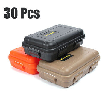 30Pcs Outdoor EDC Waterproof Survival Box Container Shockproof Tools Kit Storage Case for sale in Bitcoin, Litecoin, Ethereum, Bitcoin Cash with the best price and Free Shipping on Gipsybee.com