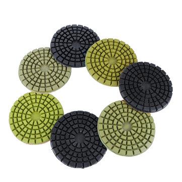 7pcs 4 Inch Wet Dry Concrete Backer Diamond Polishing Pad Set For Grinder Polishers
