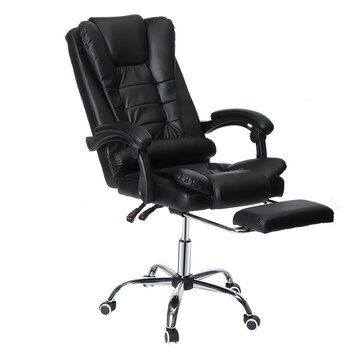 Douxlife® Classic MC_CL01 Executive Office Chair Ergonomic Design with 135°Reclining Retractable Footrest PU Leather Lumbar Pillow for Home Office