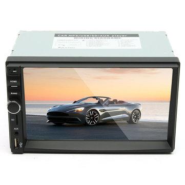 7 Pollici 2 Din Car MP5 Player Stereo Radio 1080P Touch screen FM AUX SD bluetooth con vista posteriore fotografica