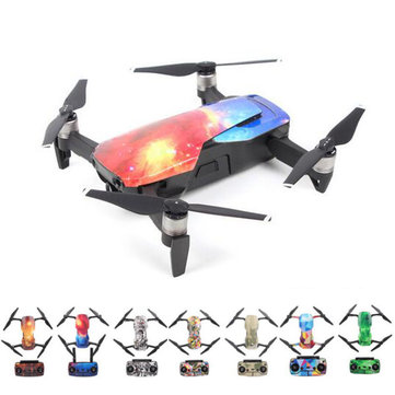 Waterproof PVC Carbon Fiber Stickers Drone Body Remote Controller Decals Full Set for DJI MAVIC Air