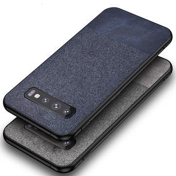 Bakeey Хлопок Ткань Защитная Чехол Для Samsung Galaxy S10e / S10 / S10 Plus S10 5G Анти Задняя крышка отпечатков пальцев