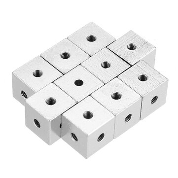 30pcs 10x10x10mm Six-sided Copper Fixed Block Six Sides Nut Plate Connection Block 10 * 10 * 10 Square Fixed Block for sale in Bitcoin, Litecoin, Ethereum, Bitcoin Cash with the best price and Free Shipping on Gipsybee.com