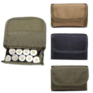 Tactical 600D 10 Round Shotgun Shotshell  Holder Molle Pouch Bag for 12 Gauge/20G Magazine