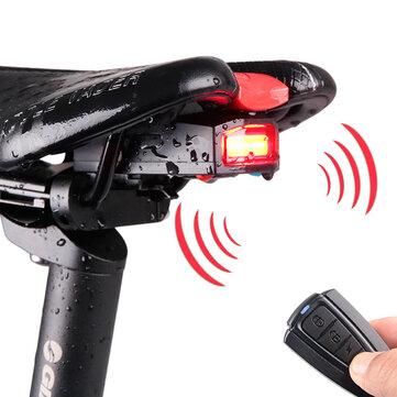 3 en 1 Bicicleta de Luz Trasera Inalámbrica Ciclismo Bloqueo de Alarma de Control Remoto