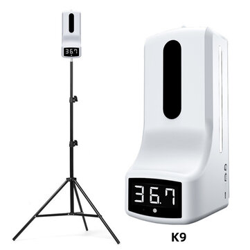 Non Contact Wall Mounted Infrared Thermometer with 160cm Tripod Stand 1000ml Automatic Sensor Soap Dispenser