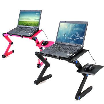 360 पैडिंग लैपटॉप डेस्क कंप्यूटर टेबल 2 होल कूलिंग नोटबुक टेबल माउस पैड लैपटॉप स्टैंड के साथ