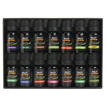 RHJY 14ks / Set 10ml 100% čistý přírodní aromaterapie esenciální olej terapeutické rostliny