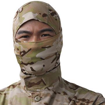 戦術フルフェイスマスクフードヘッドギアキャップカモフラージュハンティング帽子ウィンターネックスカーフ