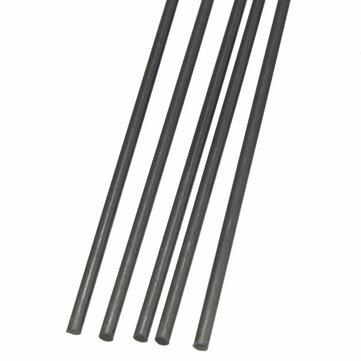 5pcs 2mm Diameter x 500mm Carbon Fiber Rods Tube For RC Airplane Matte Pole