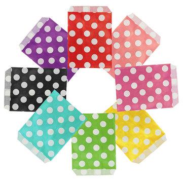 25pcs polka dot biodegradables de caramelo bolsa de regalo de la fiesta de la boda bolsa de comida de papel