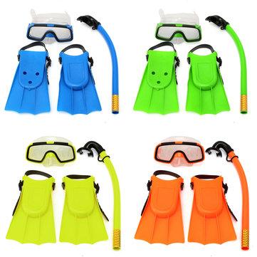 Immersioni subacquee per bambini piccoli Maschera Goggles Flippers Scuba Swimming Diving Set per bambini