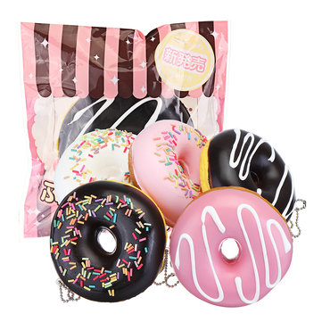 Cake Squishy Chokladdoughnuts 9CM Scented Donuts Squeeze Jumbo Presentsamling Med Förpackning