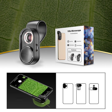 How can I buy APEXEL 100X Magnification Microscope Lens Micro Lens with LED Light for Mobile Phone Smartphone Photography for Microscopic Creatures Plant Animal with Bitcoin
