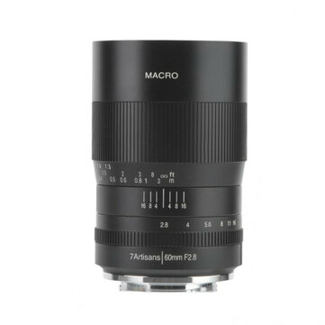 Buy 7artisans 60mm f2 8 1 1 Magnification Macro Focus Lens Suitable for Sony E mount for Fuji for M4 3 Mount Mirrorless Camera A6500 A6400 with 5 on Gipsybee.com