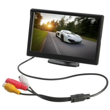 5 Pollici Supporto retrovisore per monitor per retrovisore auto fotografica TFT LCD