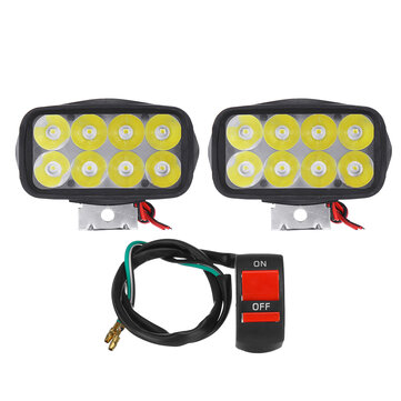 How can I buy 12V 12W Motorcycle LED Headlights 1200LM Spotlights Super Bright Fog Spot Lamp Waterproof Auxiliary Driving Lights Headlamp With ON OFF Switch with Bitcoin