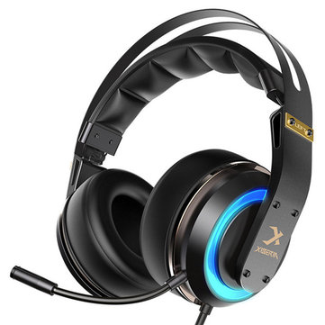 Xiberia T19 Gaming Headphone Active Noise Cancelling Mic LED Light...