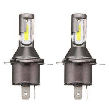 Cặp M4 H4 55W 1800LM Bi-Xenon Hi / Lo Đèn pha LED Bộ chuyển đổi đèn pha CSP Đèn trắng