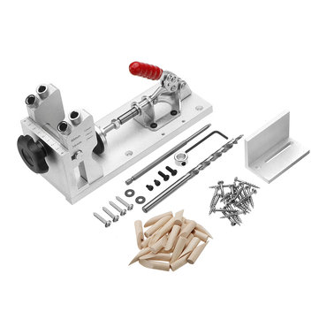 $49.99 for Woodworking Pocket Hole Jig System Guide Carpenter Kit with Clamp