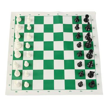 16インチトーナメントチェスのゲームのプラスチック製のパーツの緑のロールアウト屋外旅行キャンプゲーム