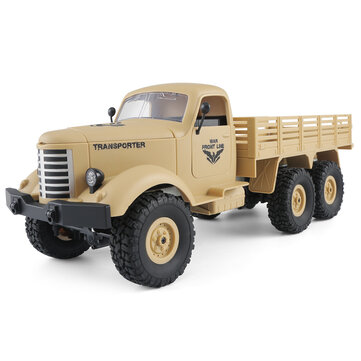 US$27.99 54% JJRC Q60 1/16 2.4G 6WD Off-Road Military Truck Crawler RC Car RC Toys & Hobbies from Toys Hobbies and Robot on banggood.com