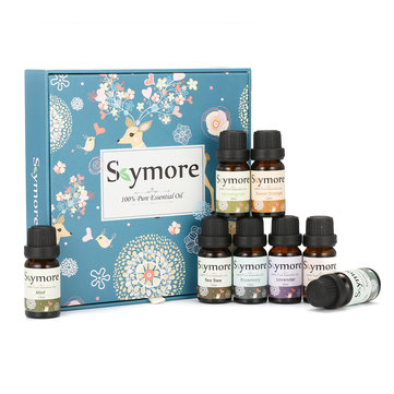Skymore Top 8 Pure Essential Oils Set 100% Pure Aromatherapy Oils for Diffuser Valentine's Day Gift
