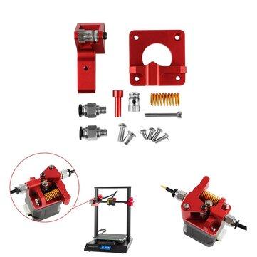 Kit d'extrudeuse à double entraînement en aluminium amélioré à poulie double pour creality CR-10/CR-10S/CR-10S Pro/Ender-3/Ender-3 Pro imprimante 3D