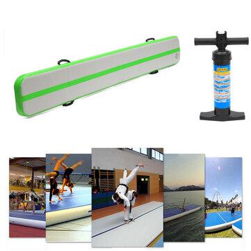 118x16x4inch Balance Beam Training Mat Airtrack Gymnastics Mat Tumbling Inflatable GYM Air Track Mat with Hand Pump