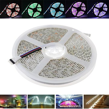 5M SMD 5050 300 LED Waterproof RGBW Strip Flexible Tape Light Christmas Home Decoration Lamp DC12V