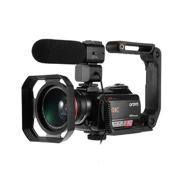 Ordro HDR-AC5 4K UHD Zoom 12X  FHD 24MP WiFi IPS Touch Screen Digtal Optical DV Digital Video Camera Camcorder