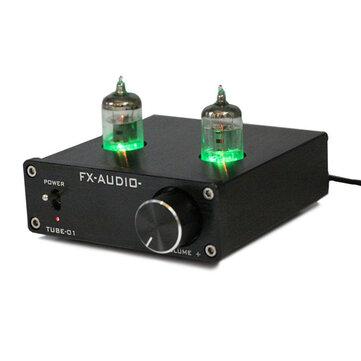 EU FX-Audio Tube-01 Mini 6J1 Valve Vacuum Tube Pre-Amplifier Stereo Audio HiFi Buffer Amplifier