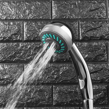 समायोज्य शावर सिर तीन समारोह वर्षा स्नानघर दीवार माउंट शावरहेड ABS