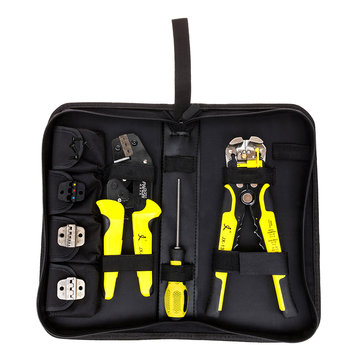 Professional Crimper Plier Wire Stripper Tool 1000 Connector Wire Terminal Kit