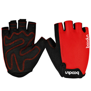 BOODUN Half Finger Riding Glove Dumbbell Fitness Gloves Outdoor Motorcycle Riding Cycling Protective Finger Gloves