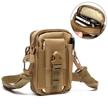 6inches Cell Phone Men Nylon Crossbody Bag Tool Tactical Waist Bag